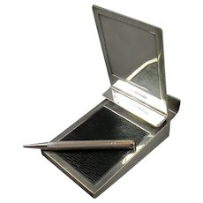 Sterling Silver Writing Pad & Pencil by Asprey & Co Vintage Art Deco c1937