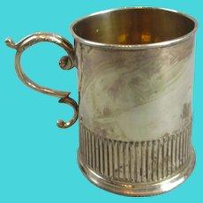 Smaller Vintage Silver Plated Christening Mug