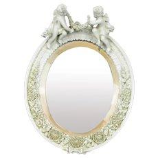 Meissen Ceramic Mirror German Antique 19th Century