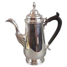 Georgian Style Irish Silver Coffee Pot Dublin 1968