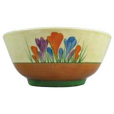 Ceramic Bowl In Crocus Pattern Clarice Cliff Vintage Art Deco c.1930.
