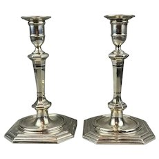 Pair of Sterling Silver Candlesticks Vintage 1927
