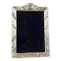 Sterling Silver Wood Photo Frame Birmingham Antique Victorian c1900