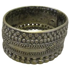 Antique Rattling Indian Foot Bracelet Silver Alloy 19th Century.