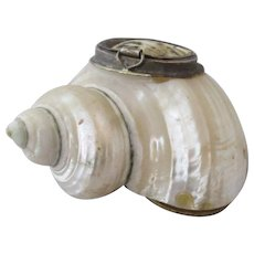 Pill Box In A Shell Art Deco C1930's.