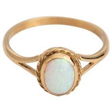 Fantastic Opal Ring 9k Gold Ring Vintage English Hallmark.