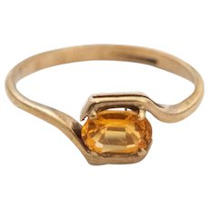 Gold and Citrine 9K Gold Ring with English Hallmark. JWR03474