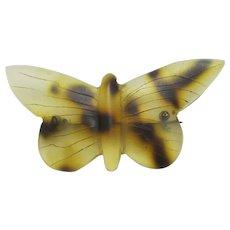 Butterfly Brooch Pin Faux Tortoiseshell Vintage Art Deco c1920.