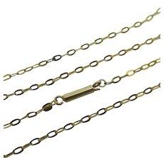 """9k Gold Cable Link Chain Necklace 40.2cm / 15.8"""" Antique Victorian c1890."""