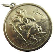 Large St Christopher pendant vintage 1968 English hallmark.