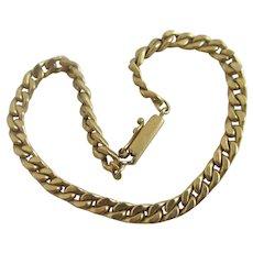 9k Gold Chain Link Bracelet Vintage 1985 English Hallmark.