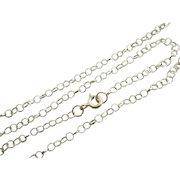 "9k Gold Chain Link Necklace 46.2cm / 18.1"" Vintage c1980."