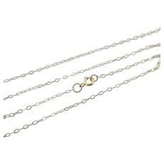 "9k Gold Chain Link Necklace 40.8cm / 16.0"" Vintage c1980."