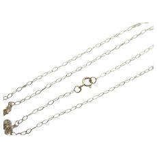 "9k Gold Chain Link Necklace 41.0cm/16.1"" Vintage c1980."