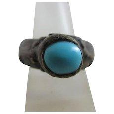 Roman Ring Turquoise & Bronze Antique.