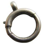 9k Gold Findings Bolt Ring 1.2cm Diameter Vintage Art Deco c1920.