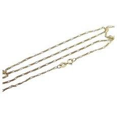 "9k Gold Chain Link Necklace 45.4cm / 17.8"" Vintage 1973 English Hallmark."