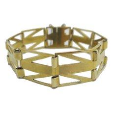 Wide 9k Gold Bracelet Vintage c1940.