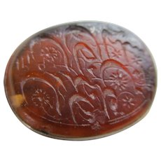 Intaglio Carnelian Seal Sterling Silver Fob Pendant Antique Georgian c1790.