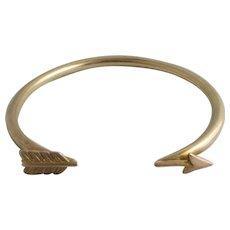 Arrow 9k Gold Bangle Bracelet Vintage 1925 Art Deco.