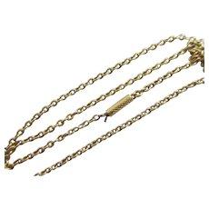 """15k Gold Chain Link Necklace 43.5cm / 17.1"""" Antique Victorian c1890."""
