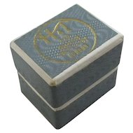 Cardboard Ring Jewellery Box Vintage c1950.