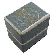 Cardboard Ring Jewellery Box Vintage c1950.
