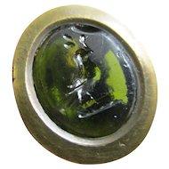 Bird Olive Branch Intaglio Tasse Cameo Seal 9k Gold Cased Fob Pendant Antique c1840 Victorian.