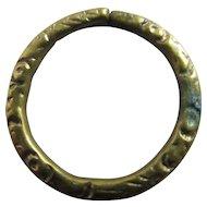 Pinchbeck Split Ring Findings 1.4 cm Diameter Antique Victorian c1860.