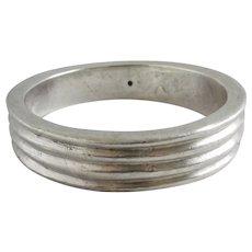 Chunky Sterling Silver Bangle Bracelet Vintage c1980.
