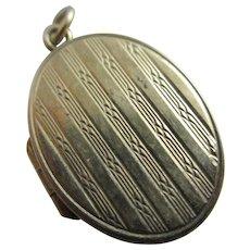9k Gold Double Pendant Locket Antique Edwardian c1910 English.