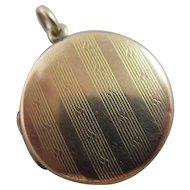 9k Gold Double Pendant Locket Vintage Art Deco c1920.
