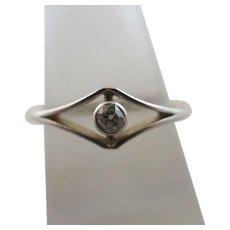 Approx 0.1 Carat Diamond 18k Gold Solitaire Ring Antique Edwardian c1910.