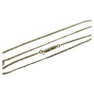 """9k Gold Chain Link Necklace 41.0cm / 16.1"""" Vintage Art Deco c1920."""