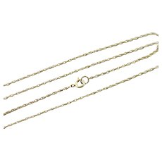 "Rope Link 14k Gold Chain Necklace 47.0 cm or 18.5"" Vintage c1980."