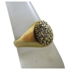 Faux Diamond 18k Gold Ring Vintage c1950.