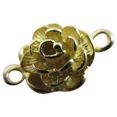 Rose Flower Necklace Bracelet Sterling Silver Gilt Vintage c1980.