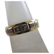 English Eternity Ring Faux Diamond & 9k Gold Vintage 1979.