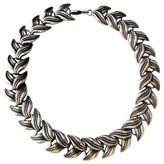 Vintage Silver Neck Collar Necklace c.1920s