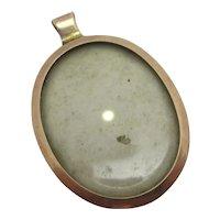 9k Rose Gold Double Pendant Locket Antique Victorian c1890.