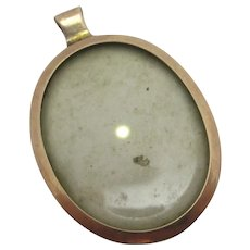 9k Rose Gold Double Pendant Locket Antique Victorian c1890.