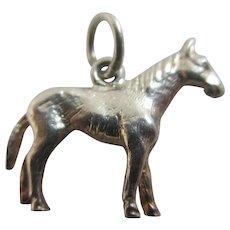 Horse Animal Sterling Silver Pendant Charm Vintage c1960.