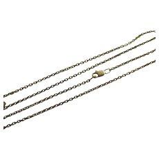 """9k Gold Chain Necklace Cable Link 63.5cm / 25"""" Vintage c1980."""
