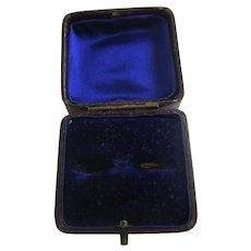 Moroccan Leather Ring Jewellery Box Antique Edwardian c1910.