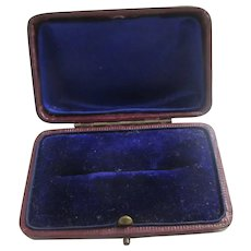 Leatherette Brooch Pin Jewellery Box Antique Victorian c1890.