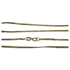Italian 9ct Yellow Gold Curb Chain Vintage 1970