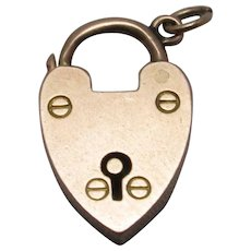 9ct Rose Gold Heart Charm Padlock Clasp Findings Contemporary 2003