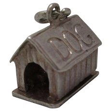 Sterling Silver Opening 'Man In The Dog House' Charm Vintage C.1980