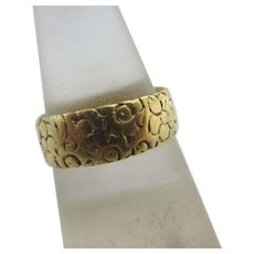 Forget Me Not Flowers 18k Gold Ring Antique English Edwardian 1901.