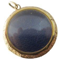 9k Gold Pendant Locket Antique Victorian c1900.